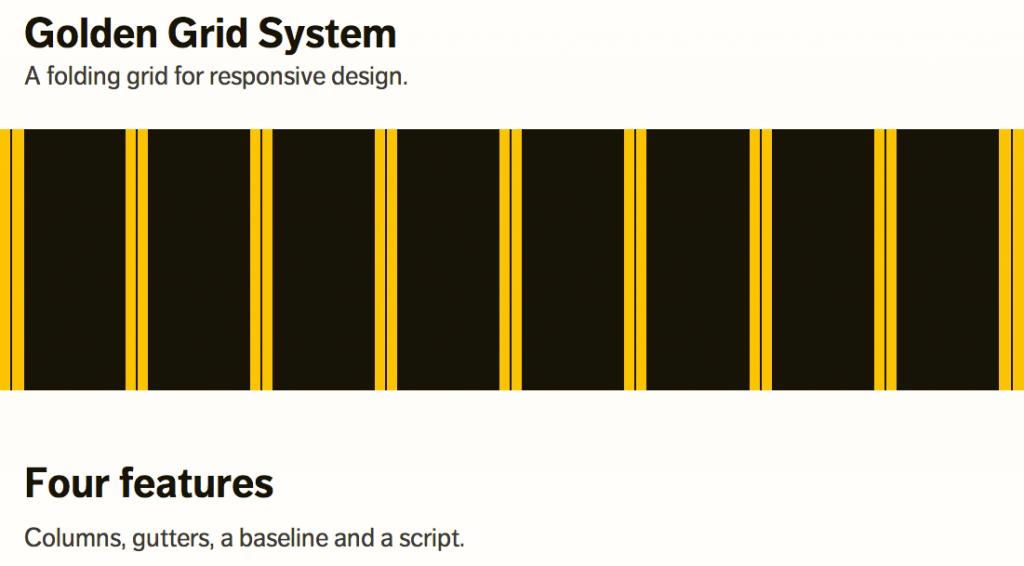 Golder Grid System A Folding Grid For Responsive Design Web Design Responsive Web Design Wireframe