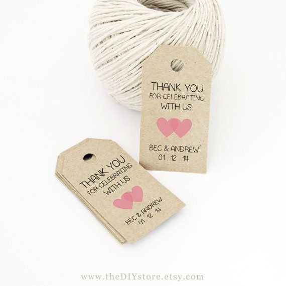 Favor tag template printable small double heart design wedding tag gift tag wedding labels for Favor tags template