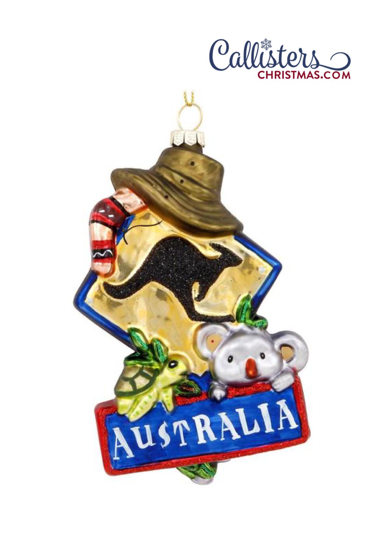 Australia Ornament in 2020 Old world christmas ornaments