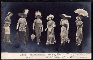 ~FH141 HAUTE COUTURE SILHOUETTES PARISIENNES FEMMES MODE HIGH FASHION ~