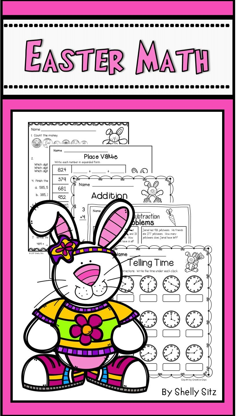 Easter Math | Pinterest | Math, Easter and Comparing numbers