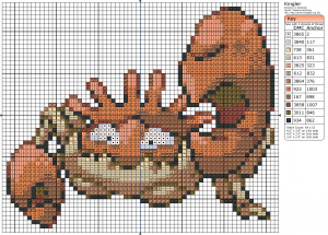 Birdie Stitching Pokemon Pattern - 99 Kingler