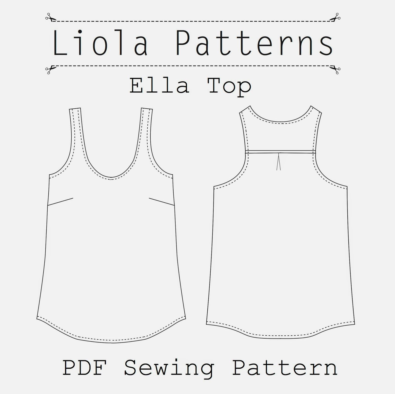 Liola Designs: Ella Top PDF Sewing Pattern | Sewing ambitions ...