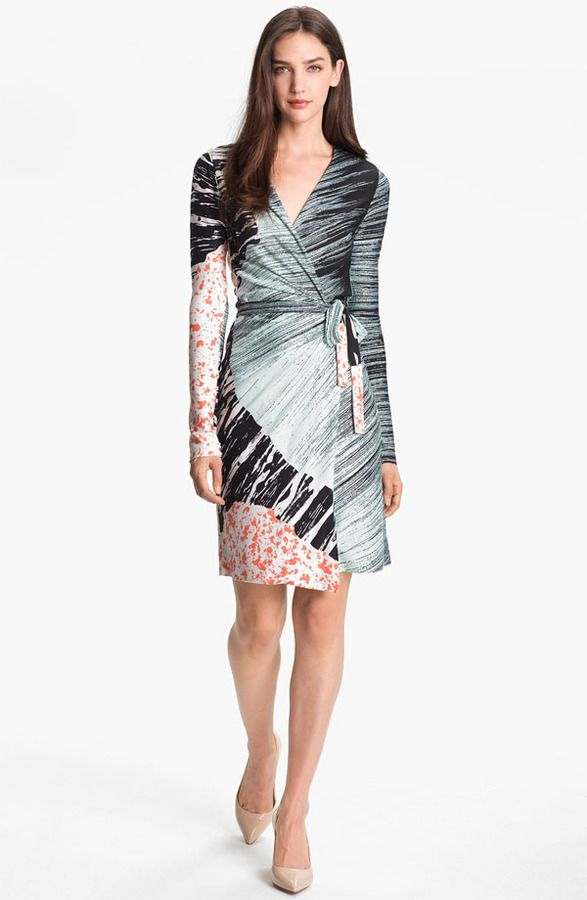 Diane von Furstenberg 'Valencia' Silk Wrap Dress on shopstyle.com