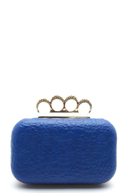 NEW Rhinestone Knuckle Ring Clutch www.TheConsignmentBag.com We ship Worldwide and New Items Arrive Daily!