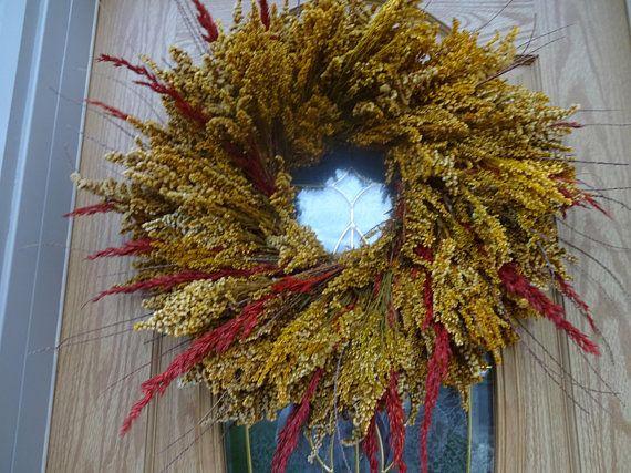 Photo of Autumn Wreath Fall Wreath Wreath Large Wreath Preserved Wreath Door Decorations Autumn Decor Home Decor Elegant Wreath
