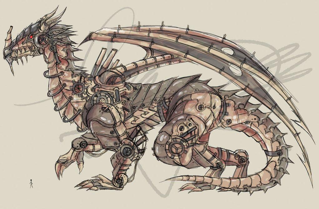 Картинки стимпанк дракон