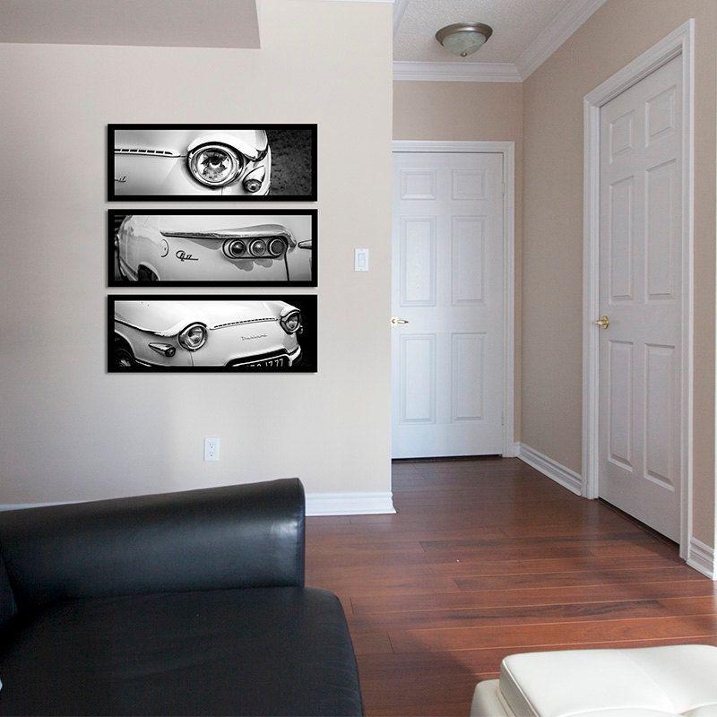 Panhard Classic Car Black And White Photography Large Wall Art Garage Art Decor