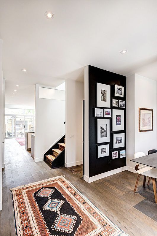 Dark Moody Accent Walls With Photo Galleries Home