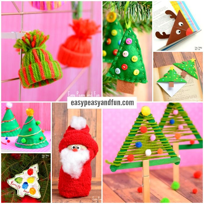 Christmas Hand Craft Ideas Part - 25: Festive Christmas Crafts For Kids - Tons Of Art And Crafting Ideas