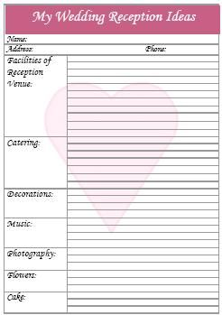 Wedding Reception Checklist | My Wedding | Pinterest | Wedding ...