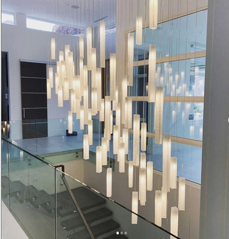 Staircase Chandelier Foyer Lighting Cuscomize Modern