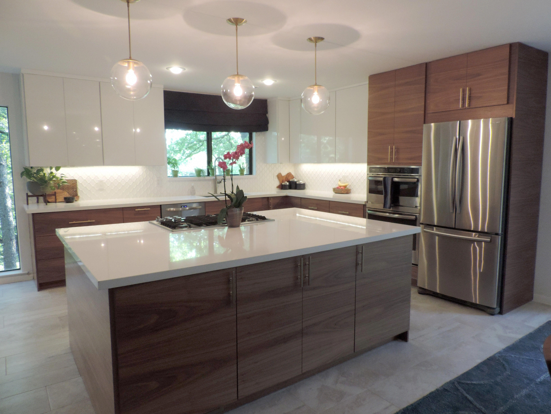 A Mid Century Modern Ikea Kitchen For A Gorgeous Light Filled Texas Home Semihandmade Modern Ikea Kitchens Ikea Kitchen Design Modern Kitchen Cabinet Design