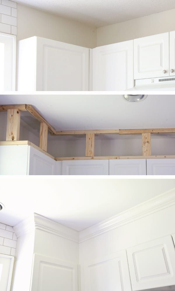 How to Enclose the Space Above Kitchen Cabinets - Angela Marie Made