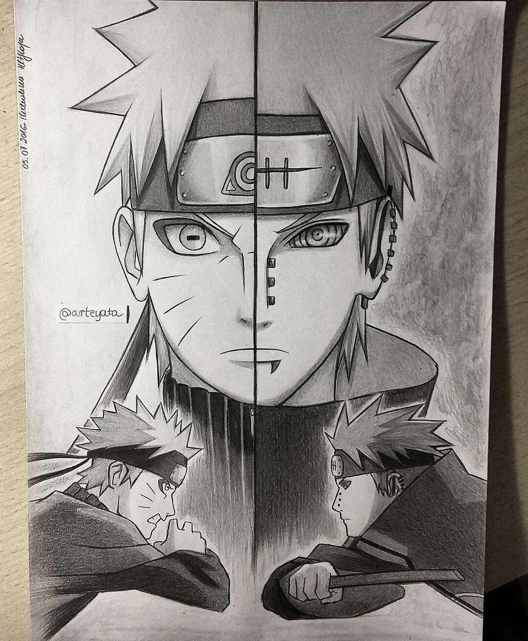 Una De Las Batallas Mas Epicas Naruto Desenho Naruto Uzumaki
