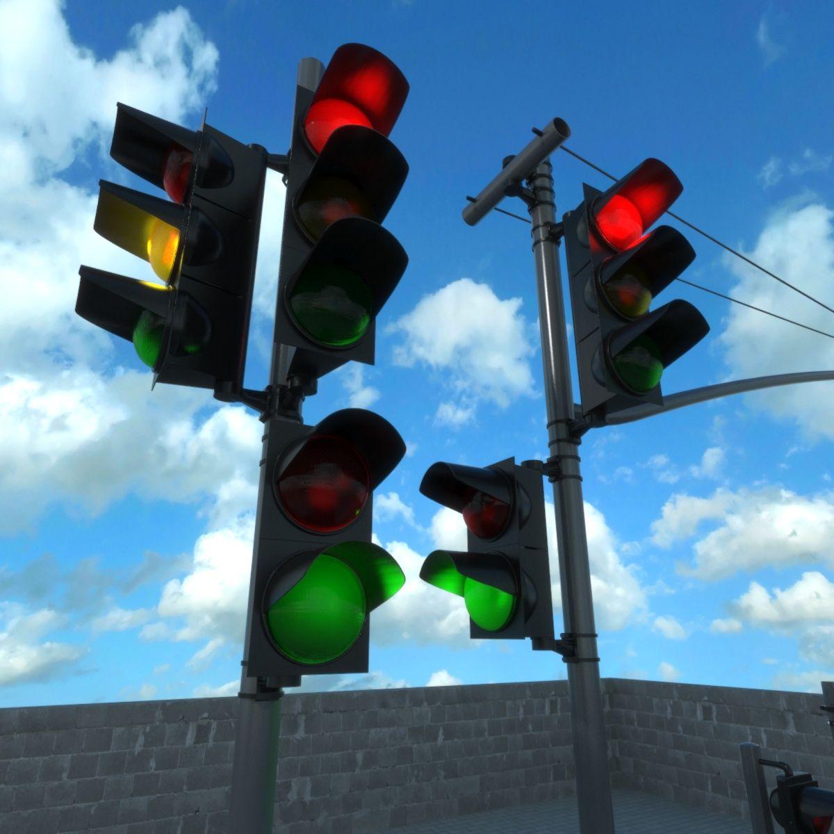 Traffic Lights Set Traffic Light Lights Traffic