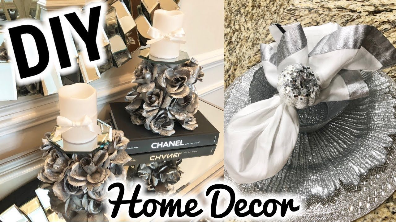 Dollar tree diy home decor diy rose mirror candle holders fall