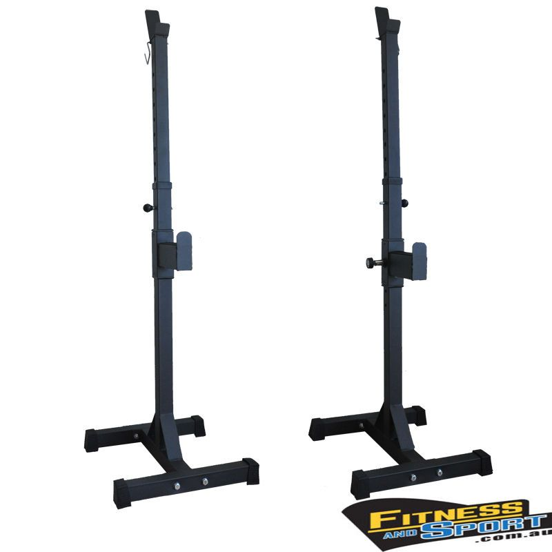 New Portable Squat Rack Stand Bench Press Fitness Gym