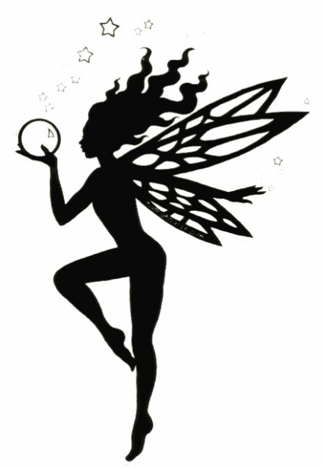 Fairy with orb silhouette.  thinking this might make a nice tattoo
