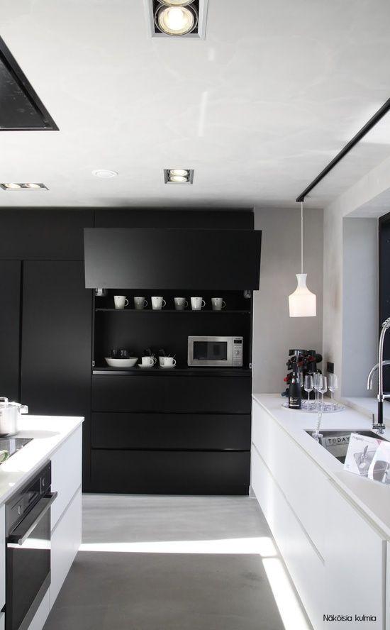 46 Marvelous Designs Of Masculine Kitchen  Masculine Kitchen New Black And White Kitchen Designs Inspiration
