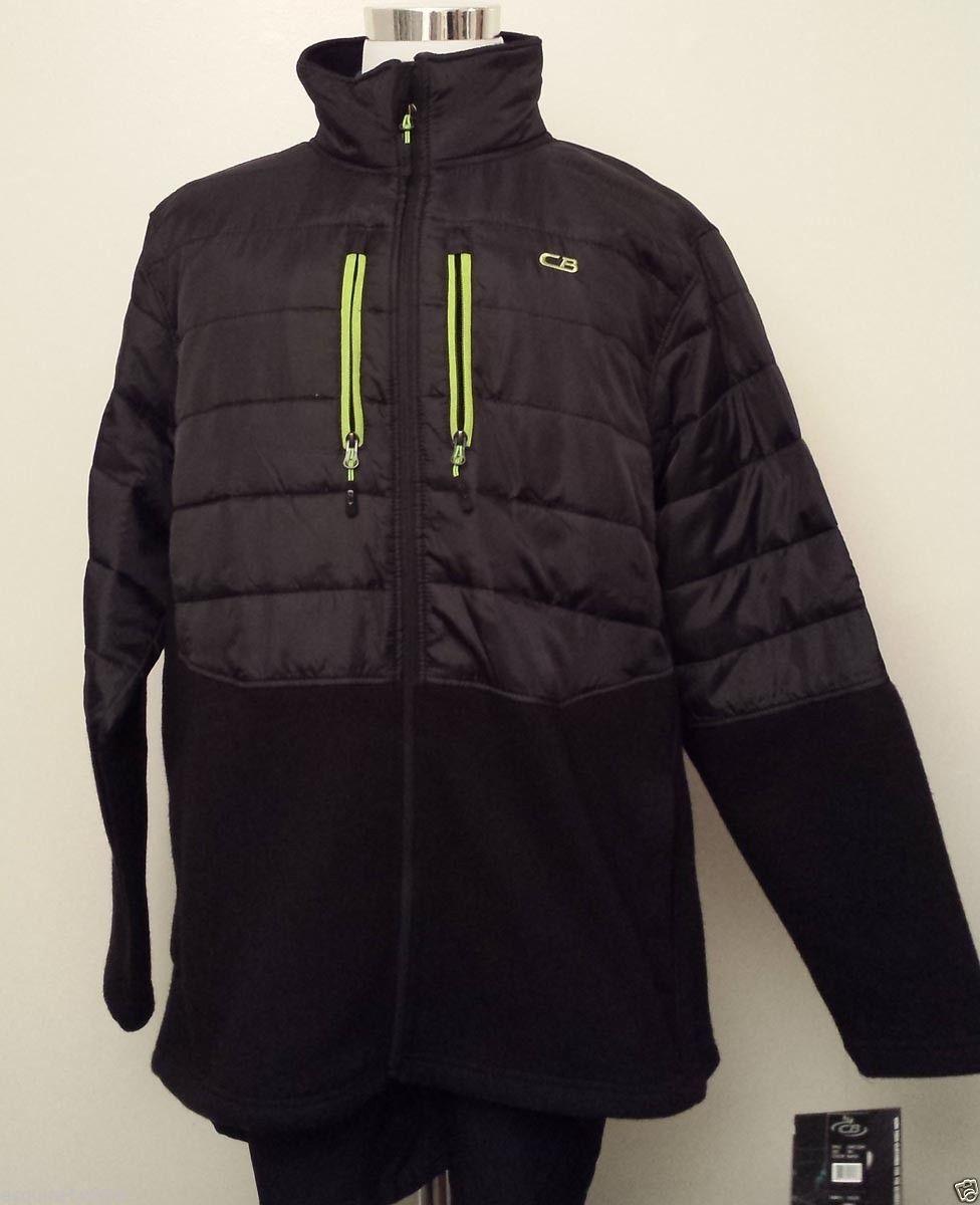 Cb sport men size xl fleece full zip jacket black nwt men pants