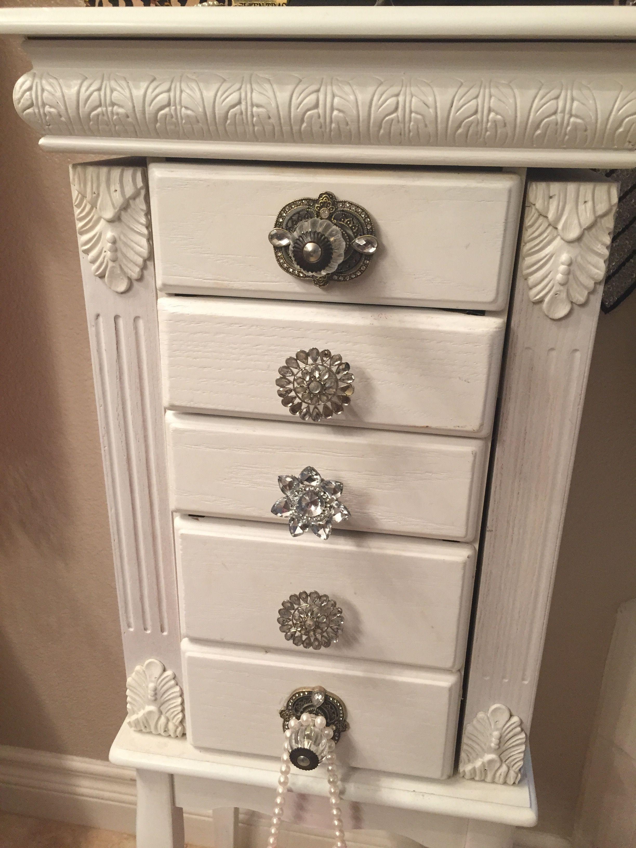 My jewelry box i added beautiful knobs from hobby lobby