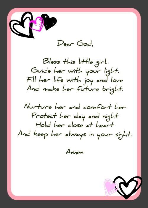 Christening poems for baby girl