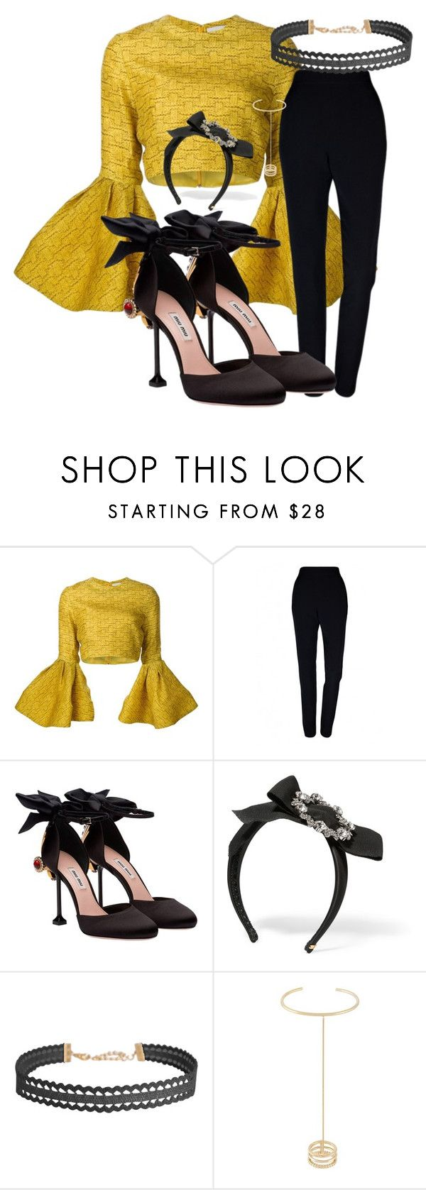 """""""#612091238409001"""" by justsafeandsound on Polyvore featuring Christian Siriano, Plakinger, Miu Miu, Dolce&Gabbana, Humble Chic and Yves Saint Laurent"""