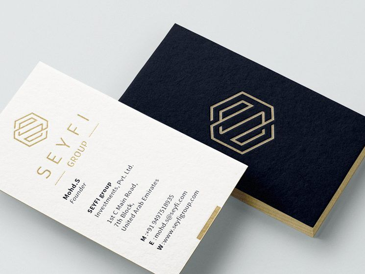 The Seyfi Group Business Card Business Card Design Inspiration Sophisticated Business Card Business Card Design Business Card Design Creative