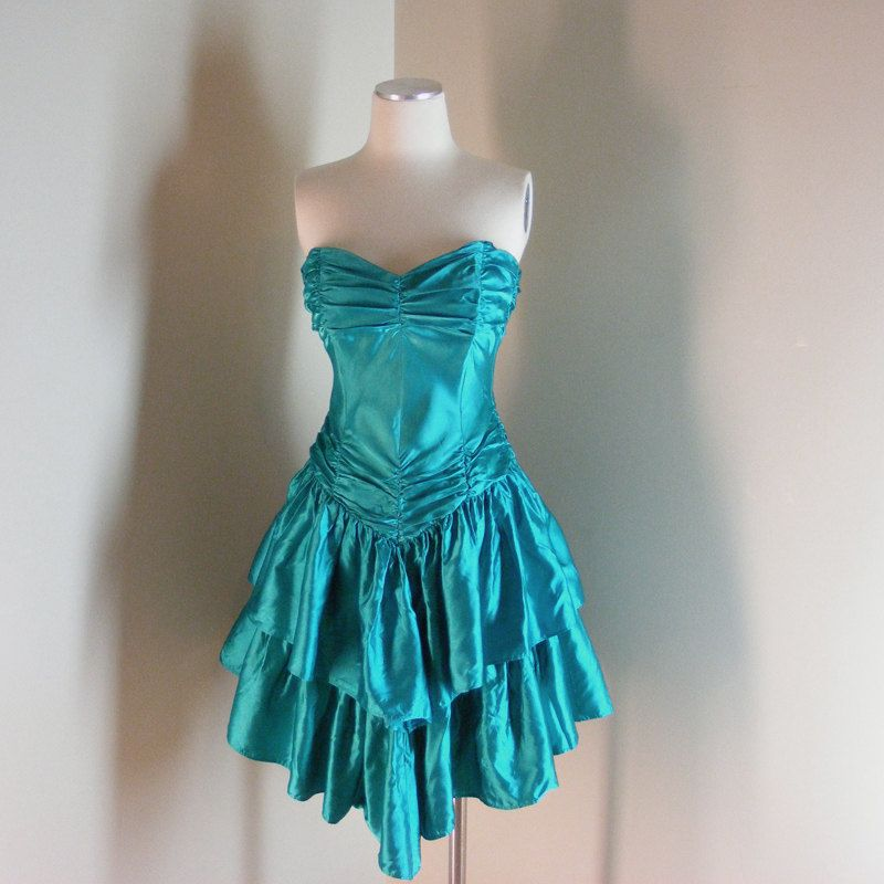 bbb556f7a6b Typical 80 s Prom Dress- mine was darker blue but that s pretty much ...