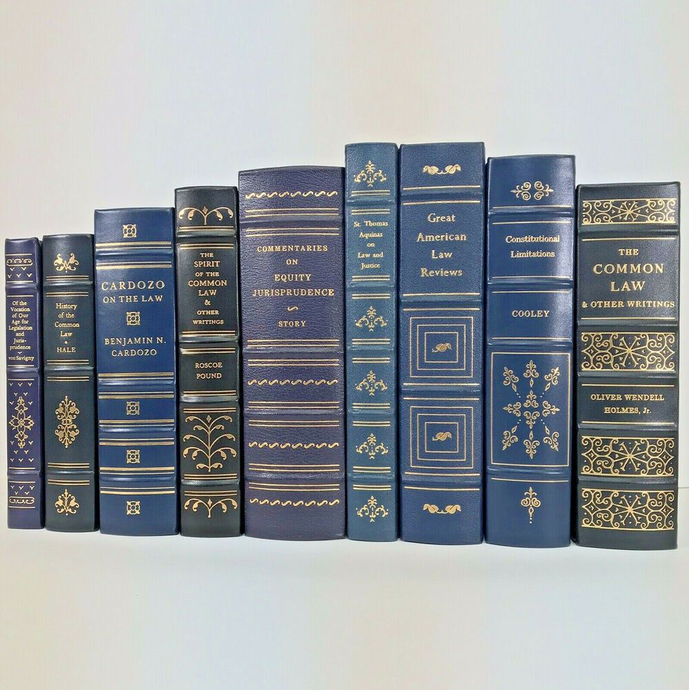 Law Book Lot Of 9 Legal Classics Library Special Leather Bound