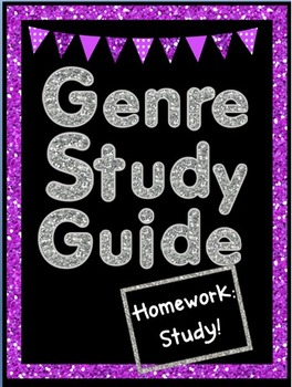 My Study Guides are getting RAVE Reviews... (I'm so tickled!)Study, study! This is a MUST HAVE for your reading genres unit!This guide focuses on genre vocabulary.Hand out the study guide at the beginning of the unit. Students fold the study guide in half.