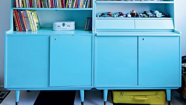 Peindre la m lamine en 5 tapes d co locker storage kitchen cabinets et furniture - Repeindre un meuble en melamine ...
