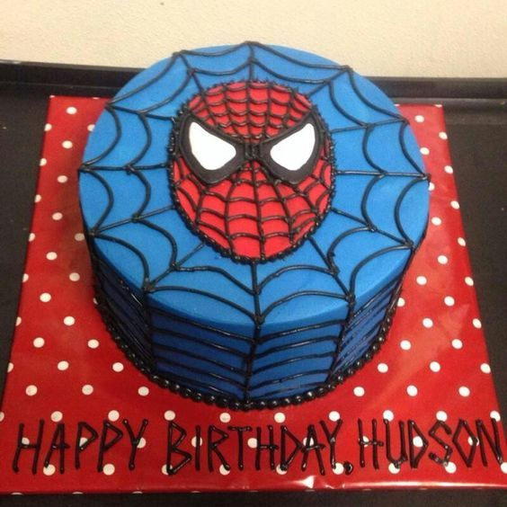 D Spiderman Birthday Cakes