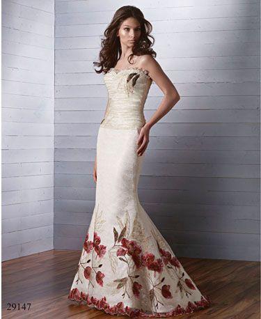 la tradición nos dicta que los vestidos de novia sean blancos o en