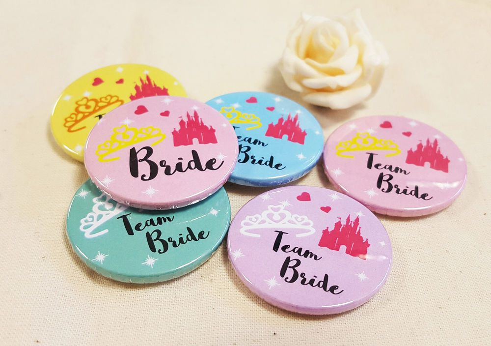 38mm 1 5inch Size Quirky Disney Hen Do Badges Party