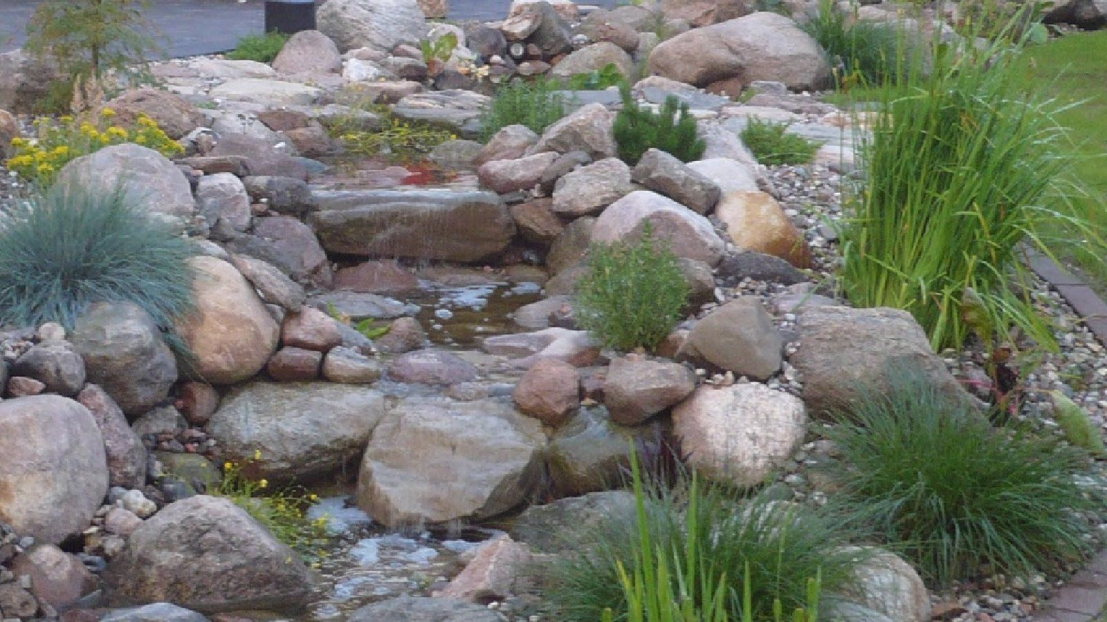 How to build natural garden stream with waterfall light for Build your own waterfall pond