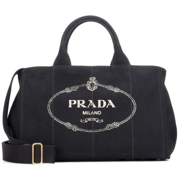 Prada Jardinera Large Canvas Shopper Bag (1 040 CHF) ❤ liked on Polyvore  featuring bags 6917716319c4b