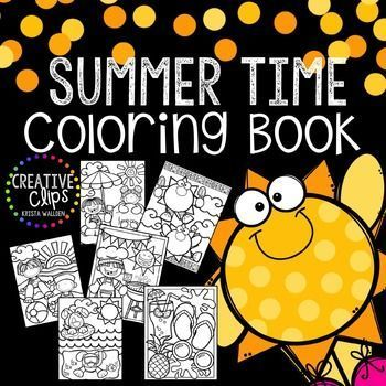 Free Summer Time Coloring Book Made By Creative Clips Clipart