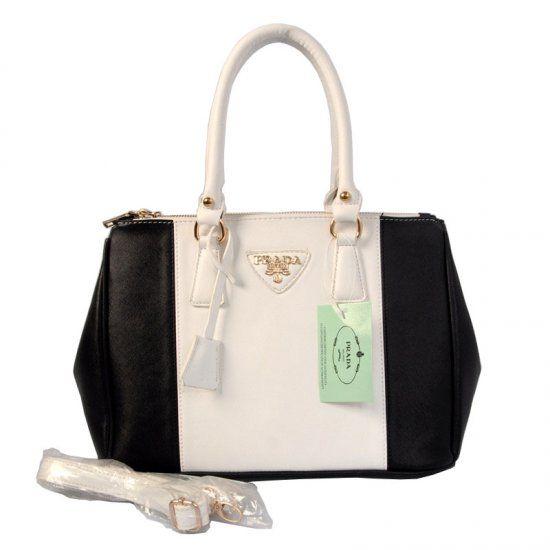 Prada 6608  Handbags in Black White  a44046b2146fb