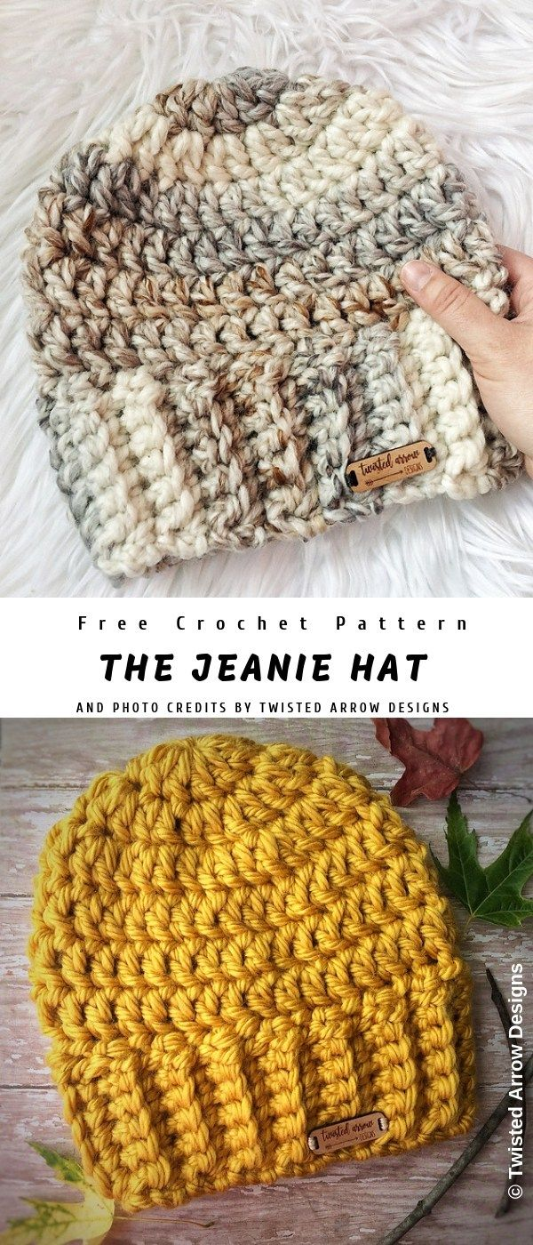 The Jeanie Crochet Hat #crochethatpatterns
