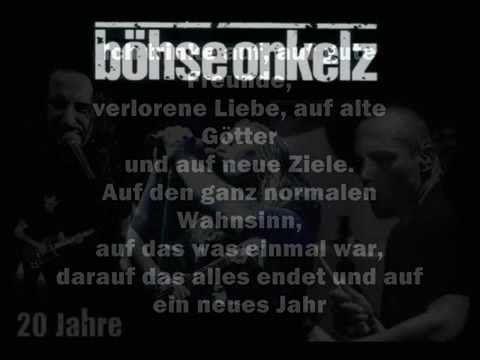 Bohse Onkelz Auf Gute Freunde Mit Lyrics