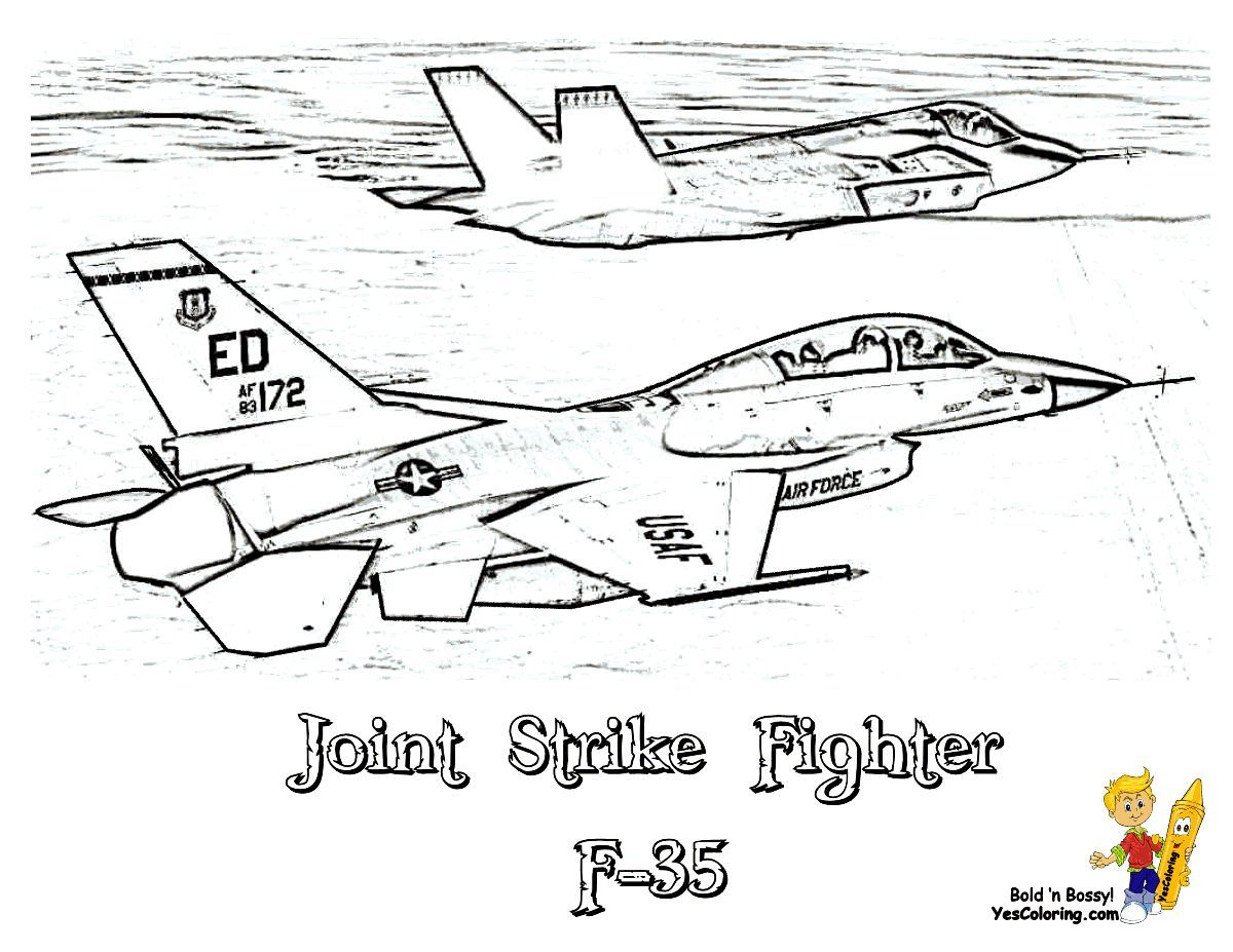 Print Out This F 35 Lightning Ii Jsf Airplane Coloring