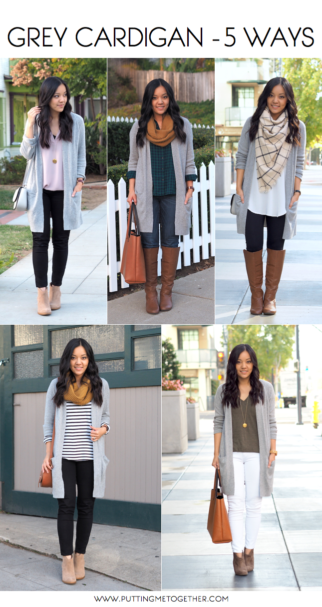 5 Outfits With a Grey Cardigan (Putting Me Together) | Grey ...