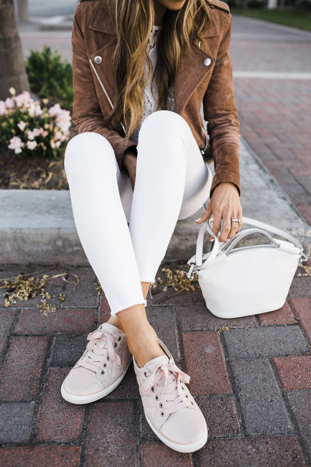 3a8de84fe32a0c Obsessed with these Blush Quilted Cap Toe Sneakers @EccoShoes @Zappos  #ECCOSHOES, #Sponsored #ZapposStyle