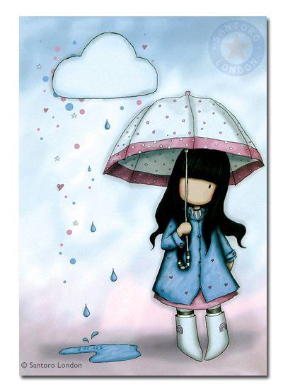 tyttö ja sadepilvi