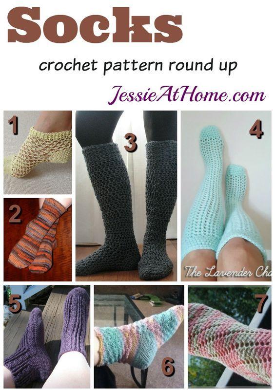 Socks - free crochet pattern round up: | Crochet | Pinterest ...
