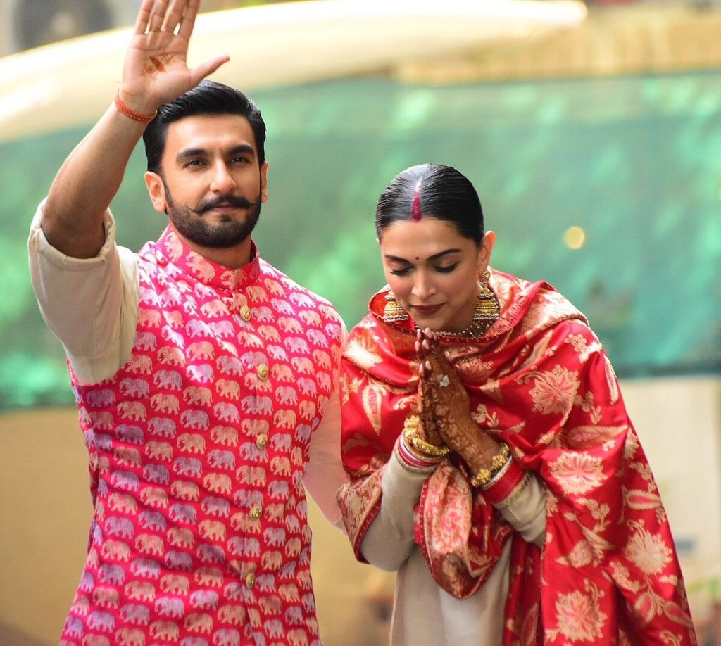 Newly Wed Deepika Padukone N Ranveer Singh Deepveerkishadi Deepveer Bollywood Celebrities Deepika Padukone Bollywood Wedding