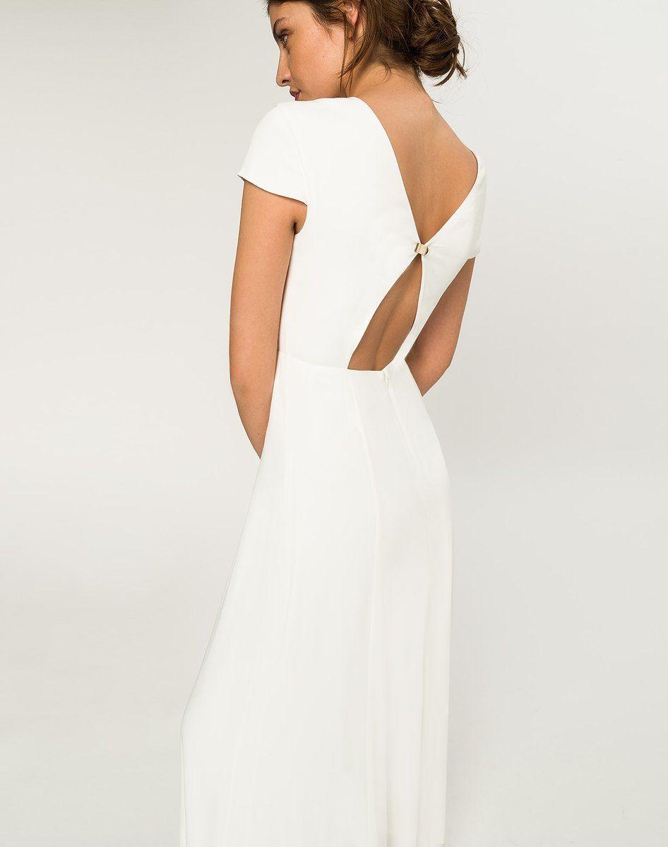 Rückenfreies Brautkleid Cremeweiß – IVY & OAK  Hochzeitskleid eng