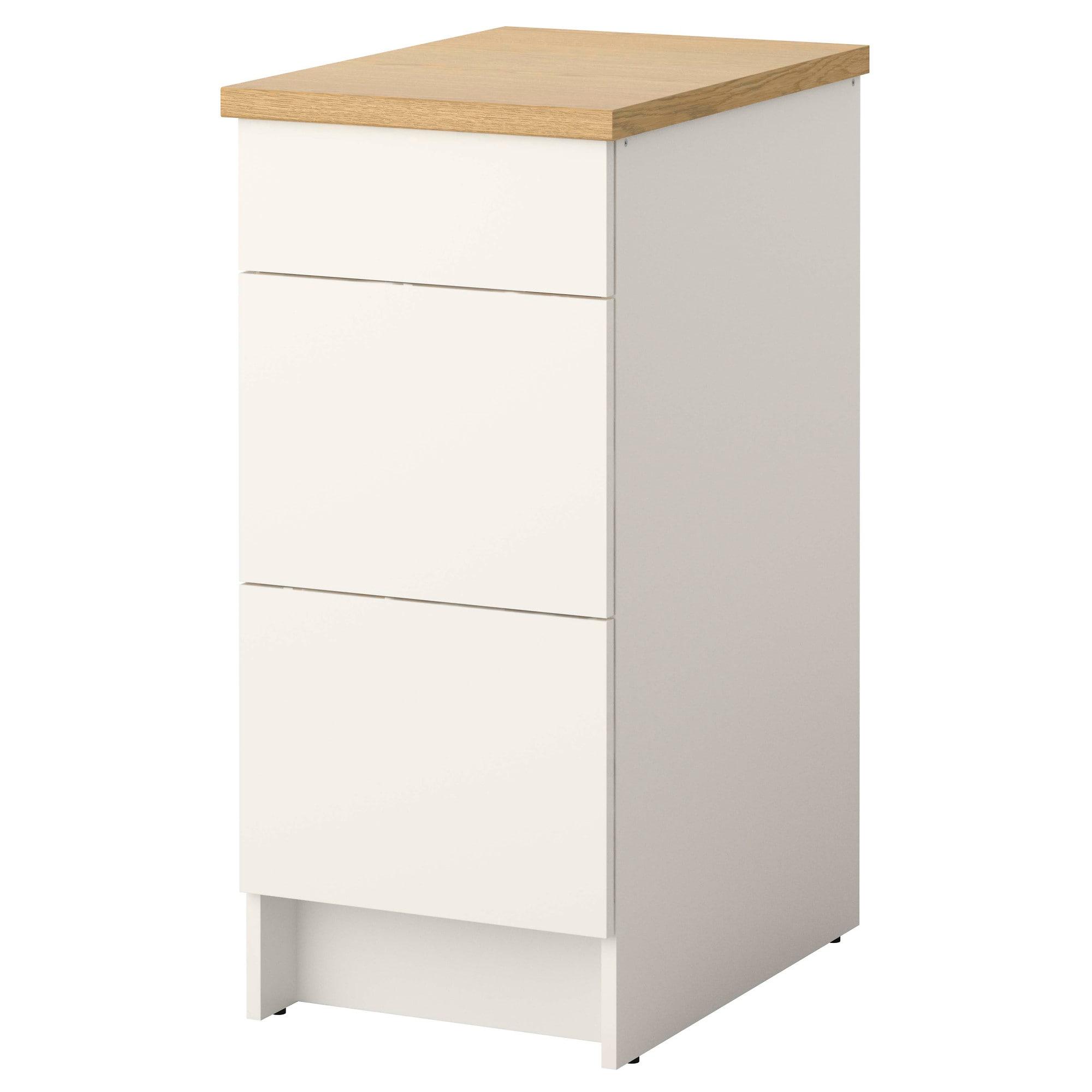 KNOXHULT Élément bas avec tiroirs, blanc - IKEA  Ikea, Tiroir